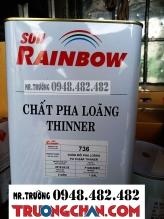 Thinner dung môi 736 Rainbow dành cho sơn PU
