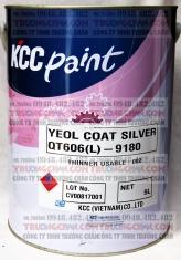 Sơn QT606-1999 Black và QT606-9180 Silver Sơn chịu nhiệt 600C KCC