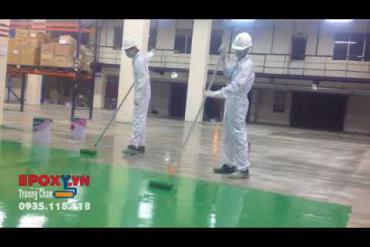 Sơn epoxy màu xanh cho nhà xưởng